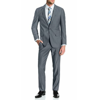 Fashion 4 Men - Tarocash Lincoln 1 Button Suit Pewter 40
