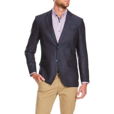 Fashion 4 Men - Tarocash Parker Linen Blend Blazer Navy 5 Xl