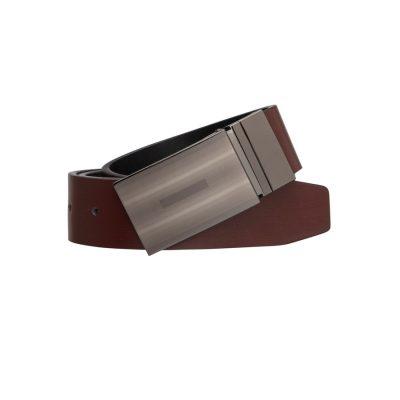 Fashion 4 Men - Tarocash Richard Reversible Belt Choc/Black 34