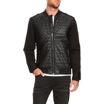 Fashion 4 Men - Tarocash Soul Moto Bomber Jacket Black M