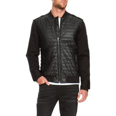 Fashion 4 Men - Tarocash Soul Moto Bomber Jacket Black S