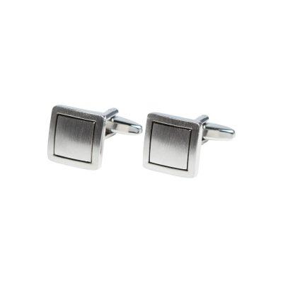 Fashion 4 Men - Tarocash Square Cuff Link Silver 1
