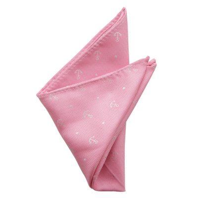 Fashion 4 Men - yd. Anchor Pocket Square Pink One