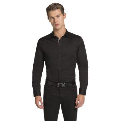 Fashion 4 Men - yd. Baker Slim Fit Shirt Black Xxxl