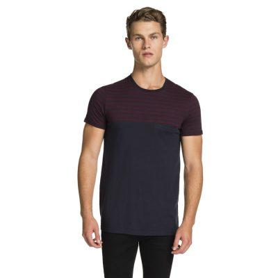 Fashion 4 Men - yd. Block Stripe Tee Navy L