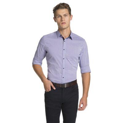 Fashion 4 Men - yd. Cologne Slim Fit Shirt Purple 3 Xs