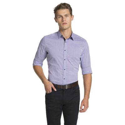 Fashion 4 Men - yd. Cologne Slim Fit Shirt Purple Xs