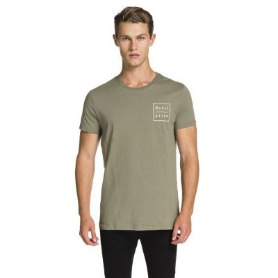 Fashion 4 Men - yd. Gothic Text Tee Khaki 3 Xl