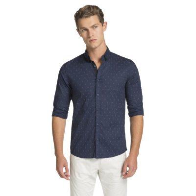 Fashion 4 Men - yd. Manly Slim Fit Shirt Navy L