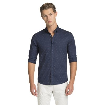 Fashion 4 Men - yd. Manly Slim Fit Shirt Navy S