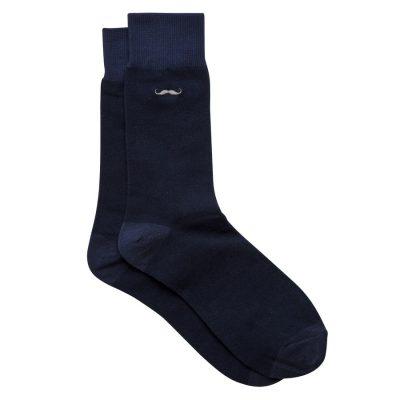 Fashion 4 Men - yd. Moustache Sock Dark Blue One