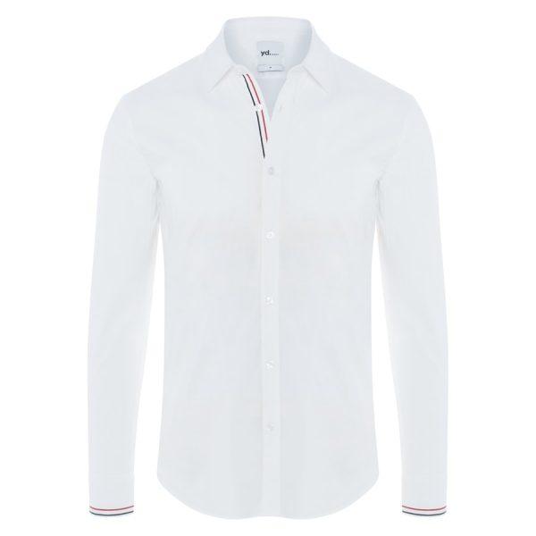 Fashion 4 Men - yd. Pinscher Slim Fit Dress Shirt White L