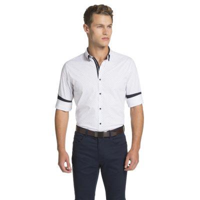 Fashion 4 Men - yd. Roka Slim Fit Shirt White Xxl