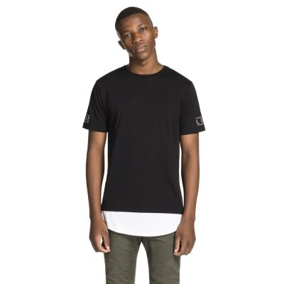 Fashion 4 Men - yd. Scoop Street Tee Black 2 Xs