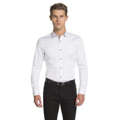 Fashion 4 Men - yd. Yolo Slim Fit Shirt White S