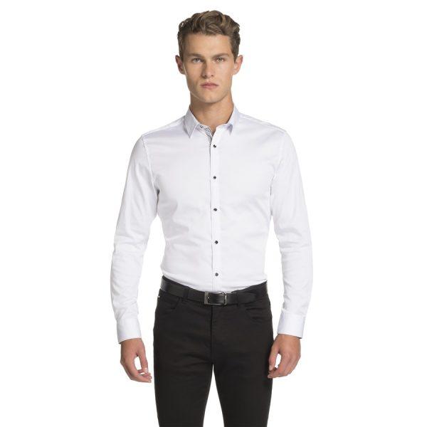Fashion 4 Men - yd. Yolo Slim Fit Shirt White Xxxl
