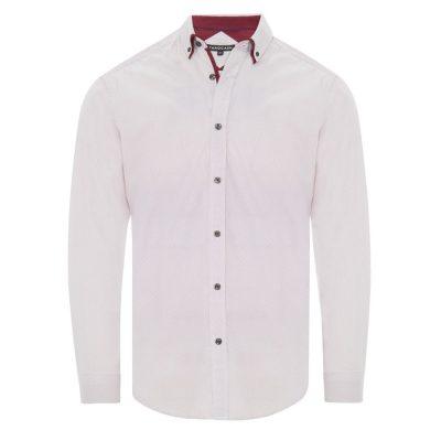 Fashion 4 Men - Tarocash Aero Print Shirt Burgundy S