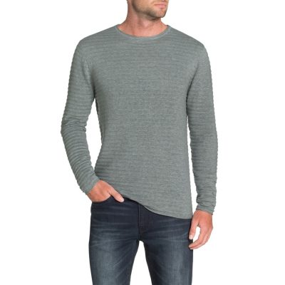 Fashion 4 Men - Tarocash Amsterdam Rib Knit Grey Marle M