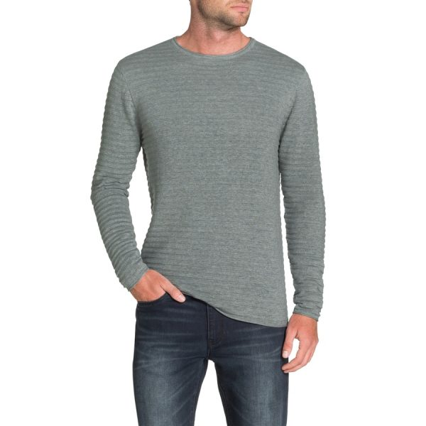 Fashion 4 Men - Tarocash Amsterdam Rib Knit Grey Marle M