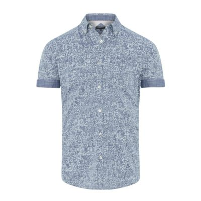 Fashion 4 Men - Tarocash Aruba Print Shirt Denim Xxl