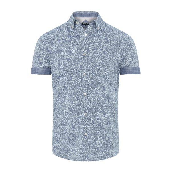 Fashion 4 Men - Tarocash Aruba Print Shirt Denim Xxxl