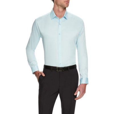 Fashion 4 Men - Tarocash Bahamas Slim Stretch Shirt Aqua Xs