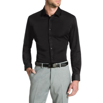 Fashion 4 Men - Tarocash Bahamas Slim Stretch Shirt Black Xs