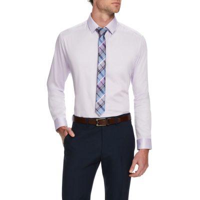 Fashion 4 Men - Tarocash Bahamas Slim Stretch Shirt Lilac M