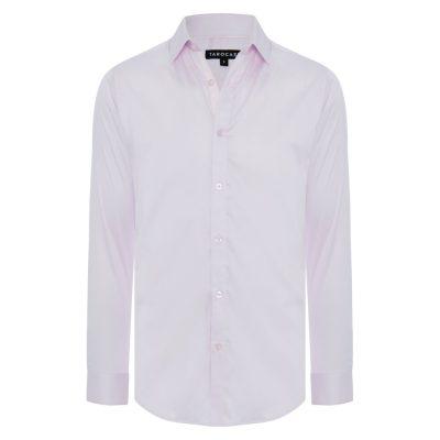Fashion 4 Men - Tarocash Bahamas Slim Stretch Shirt Pink L
