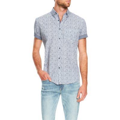Fashion 4 Men - Tarocash Banton Floral Print Shirt Blue 4 Xl
