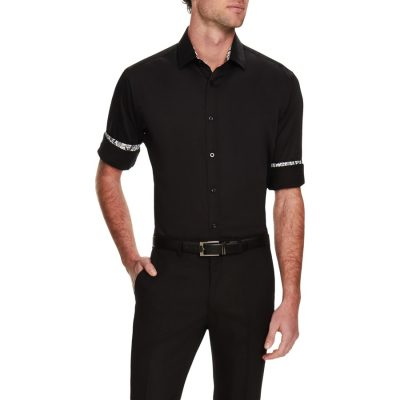 Fashion 4 Men - Tarocash Bossanova Stretch Shirt Black Xl