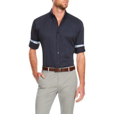 Fashion 4 Men - Tarocash Bossanova Stretch Shirt Navy 5 Xl