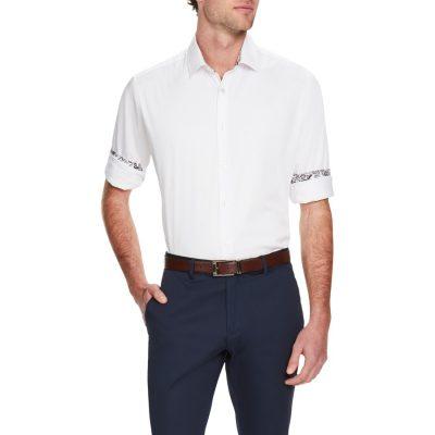 Fashion 4 Men - Tarocash Bossanova Stretch Shirt White Xs