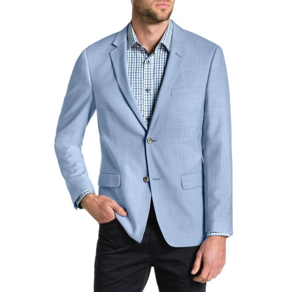 Fashion 4 Men - Tarocash Breeze Textured Blazer Sky 4 Xl