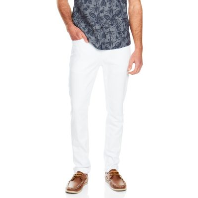 Fashion 4 Men - Tarocash Brent Tapered Jean White 36