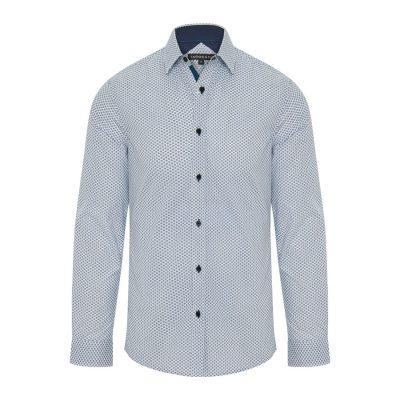Fashion 4 Men - Tarocash Bryson Print Shirt Blue 4 Xl