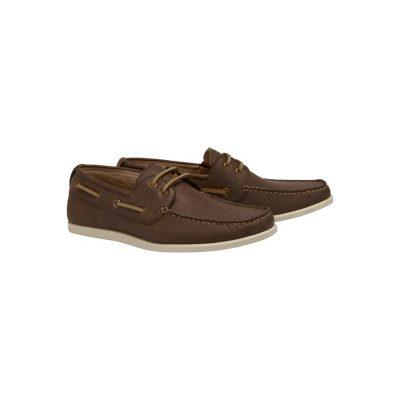 Fashion 4 Men - Tarocash Cain Boat Shoe Chocolate 11