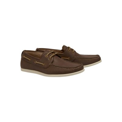 Fashion 4 Men - Tarocash Cain Boat Shoe Chocolate 9