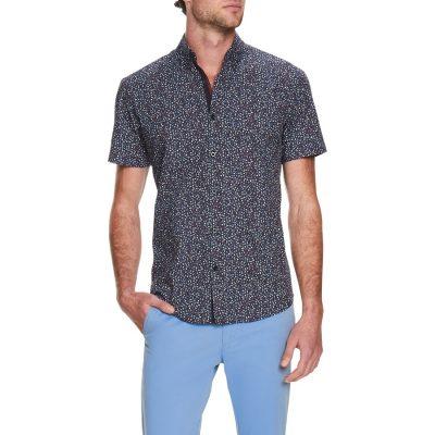 Fashion 4 Men - Tarocash Cairo Floral Print Shirt Navy Xxxl