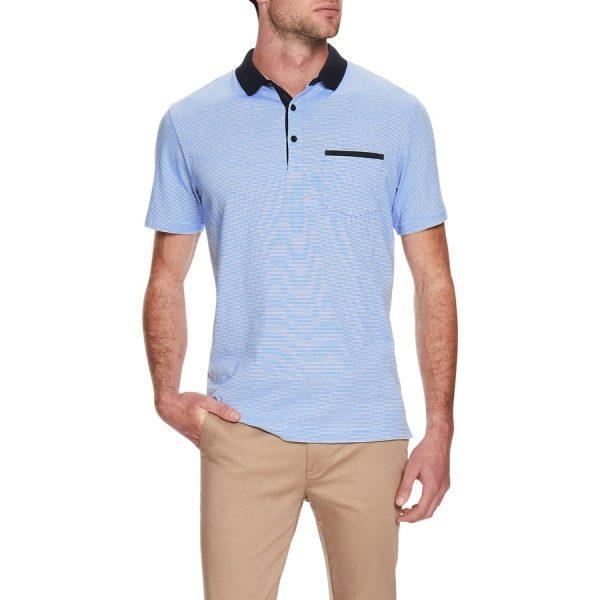 Fashion 4 Men - Tarocash Casper Stripe Polo Blue Xxl