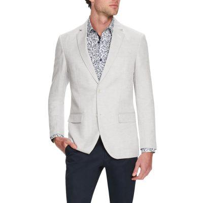 Fashion 4 Men - Tarocash Castro Linen Blend Blazer Natural M