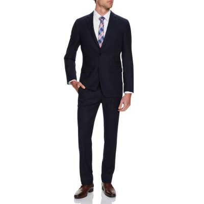 Fashion 4 Men - Tarocash Cleveland Textured 2 Button Suit Midnight 42