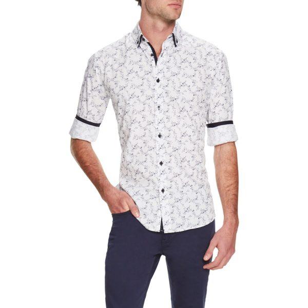 Fashion 4 Men - Tarocash Club Floral Print Shirt White Xxl