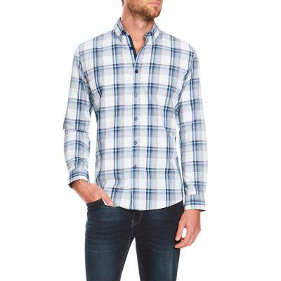 Fashion 4 Men - Tarocash Cole Check Shirt Blue Xl