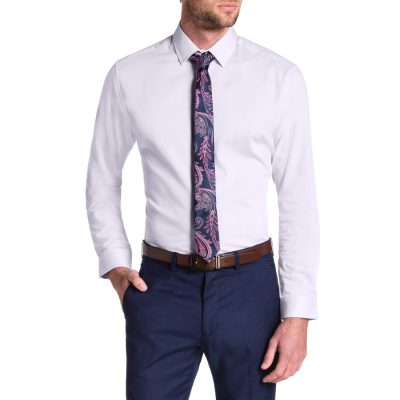 Fashion 4 Men - Tarocash Cyrus Slim Textured Dress Shirt Pink Xxxl