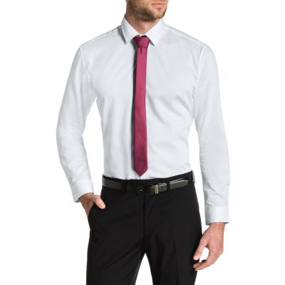 Fashion 4 Men - Tarocash Cyrus Slim Textured Dress Shirt White S