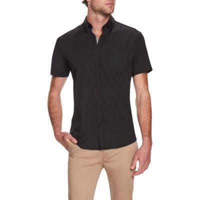 Fashion 4 Men - Tarocash Dempsey Stretch Shirt Black S