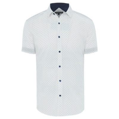 Fashion 4 Men - Tarocash Diamond Print Shirt White M