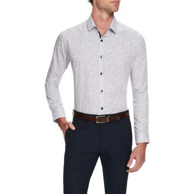 Fashion 4 Men - Tarocash Dizzee Print Shirt White L