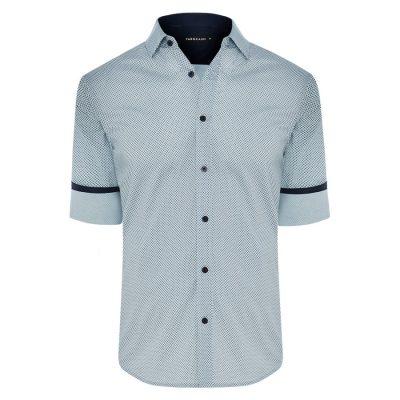 Fashion 4 Men - Tarocash Duke Print Shirt Sky Xxl